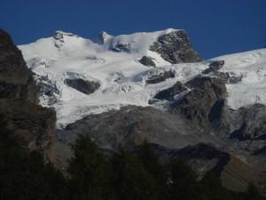 Ghiacciaio di Verra dall'Alpe di Nana/Nannaz - Foto di Gian Mario Navillod.