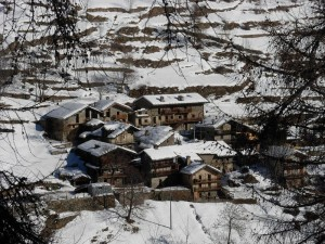 Villaggio di Etirol di Torgnon in inverno - Foto di Gian Mario Navillod.