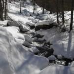 Torrente Petit-Monde in inverno - Foto di Gian Mario Navillod.