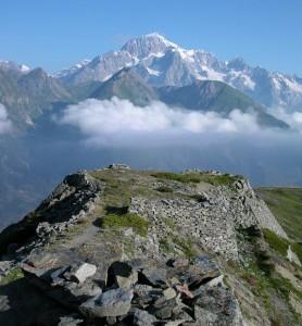 Il Monte Bianco dal Colle della Croce – Foto di Gian Mario Navillod.