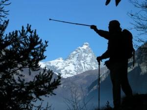 Luca Zavatta e il Monte Cervino – Foto di Gian Mario Navillod.