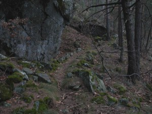 Primo tratto del Ru du Pan Perdu di Châtillon - Foto di Gian Mario Navillod.