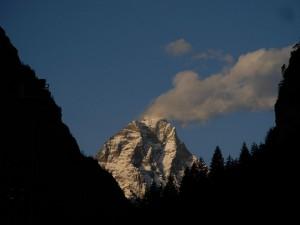 Il Monte Cervino dalla piana di Antey - Foto di Gian Mario Navillod.