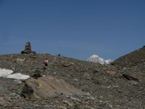 Pietraia sotto il Col Bassac Deré in Valgrisenche e Monte Bianco - Foto di Gian Mario Navillod.