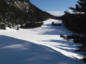 La radura del Centro Ecosostenibile di Lavesé in inverno - Foto di Gian Mario Navillod.