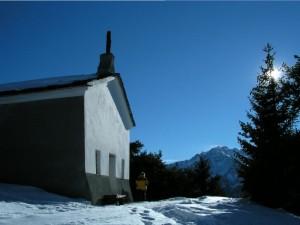 Cappella di Saint-Evence in inverno (Saint-Denis) - Foto di Gian Mario Navillod.