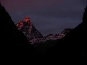 Tramonto sul Monte Cervino - Foto di Gian Mario Navillod.