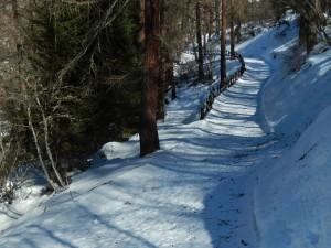 Bivio del Ru Veuillen sotto la neve - Foto di Gian Mario Navillod.