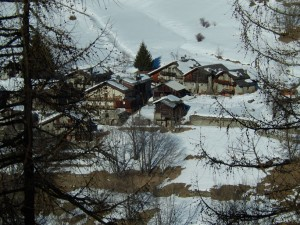Villaggio di Suisse a Chamois in inverno - Foto di Gian Mario Navillod.