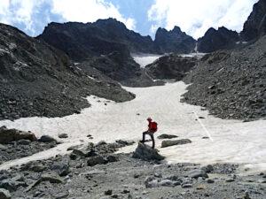 Punta Cian e nevaio sotto il Col de Fort - Foto di Gian Mario Navillod.