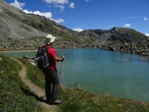 La guida ambientale André Navillod al lago Cian/Tzan/Tsan di Torgnon - Foto di Gian Mario Navillod